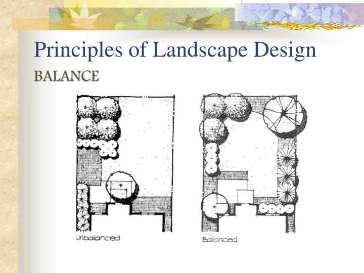 Ppt principles of landscape design powerpoint for Garden design principles