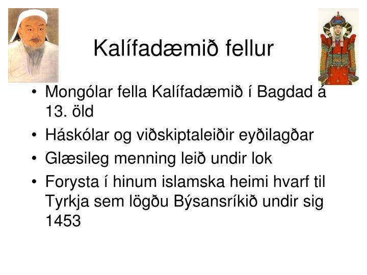 Kalífadæmið fellur