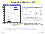 single lq production at lhc
