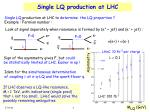 single lq production at lhc1