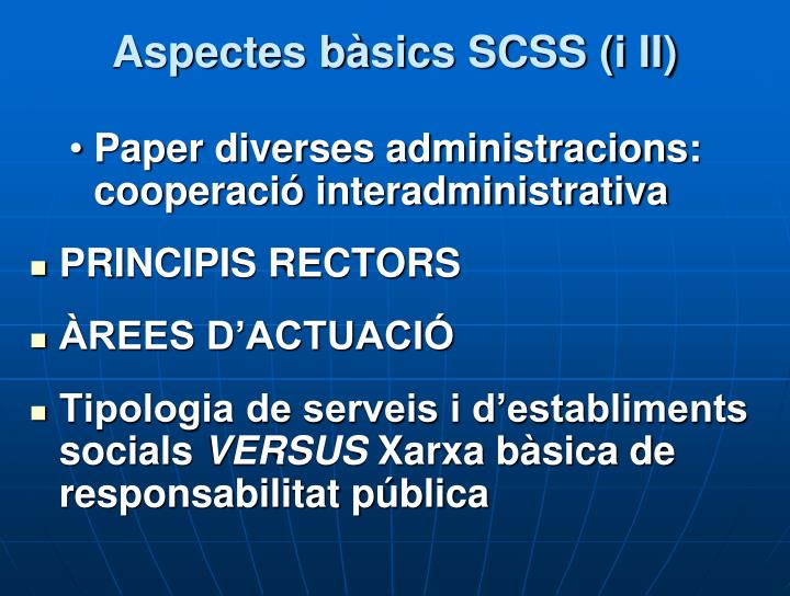 Aspectes bàsics SCSS (i II)