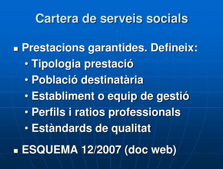 Cartera de serveis socials