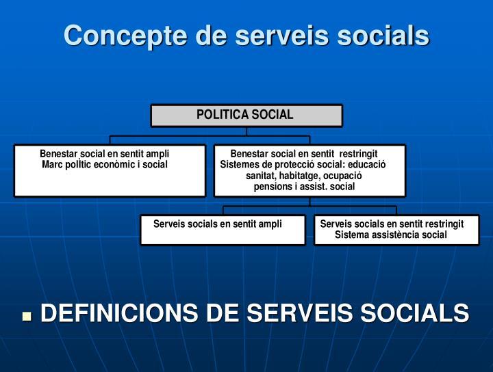 Concepte de serveis socials