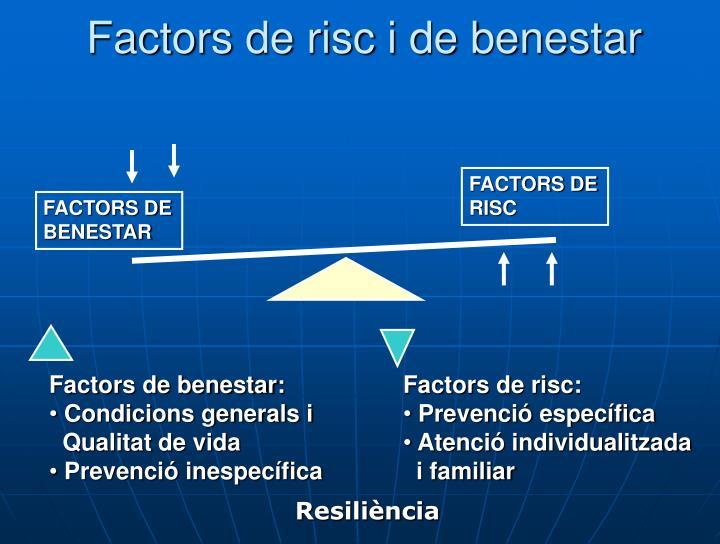 Factors de risc i de benestar