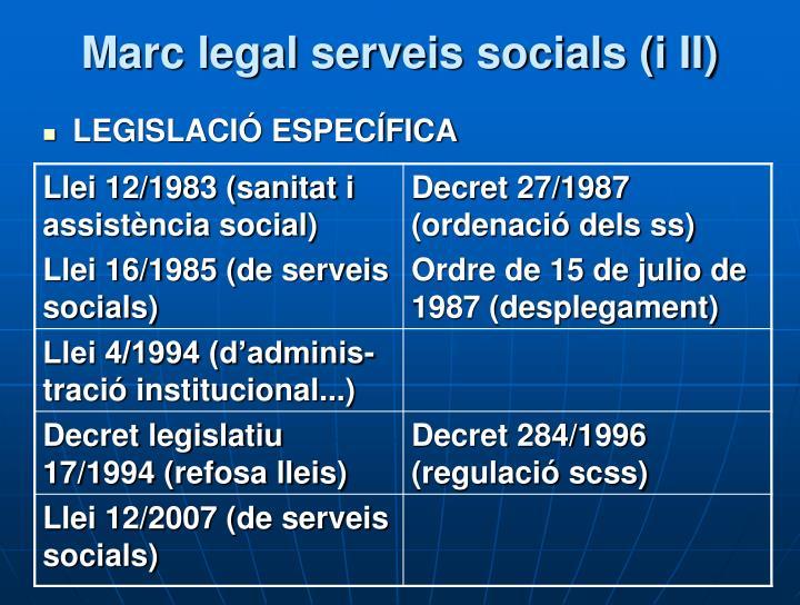 Marc legal serveis socials (i II)