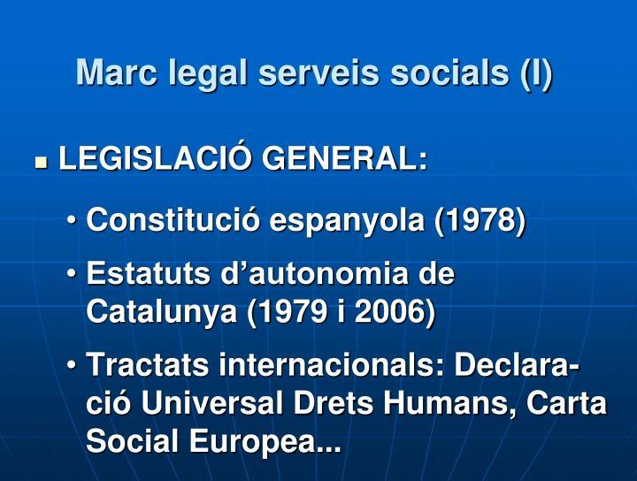 Marc legal serveis socials (I)