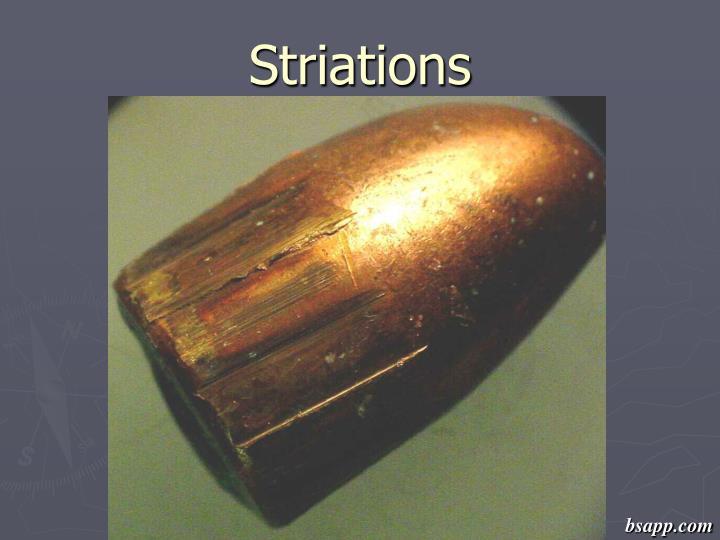 Striations