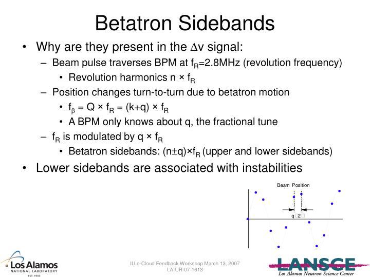 Betatron Sidebands