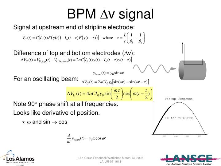 BPM v signal