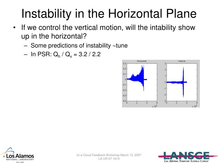 Instability in the Horizontal Plane