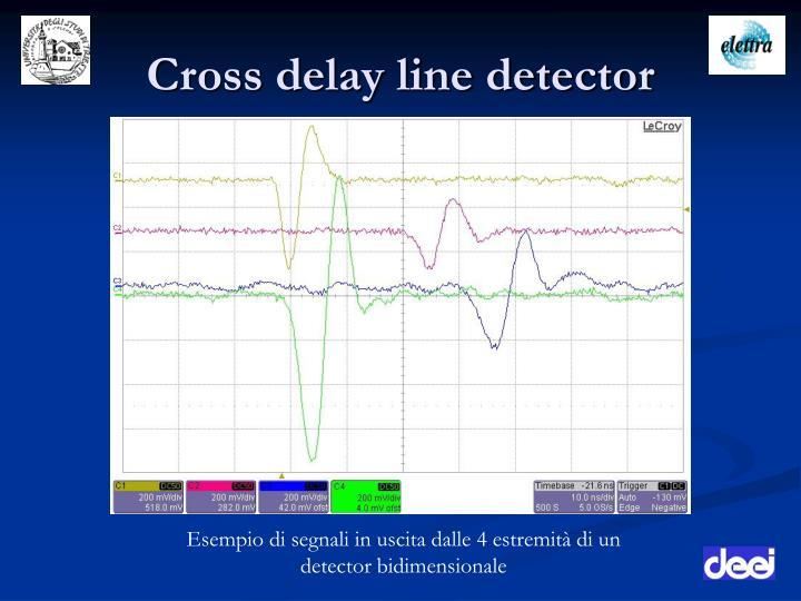 Cross delay line detector