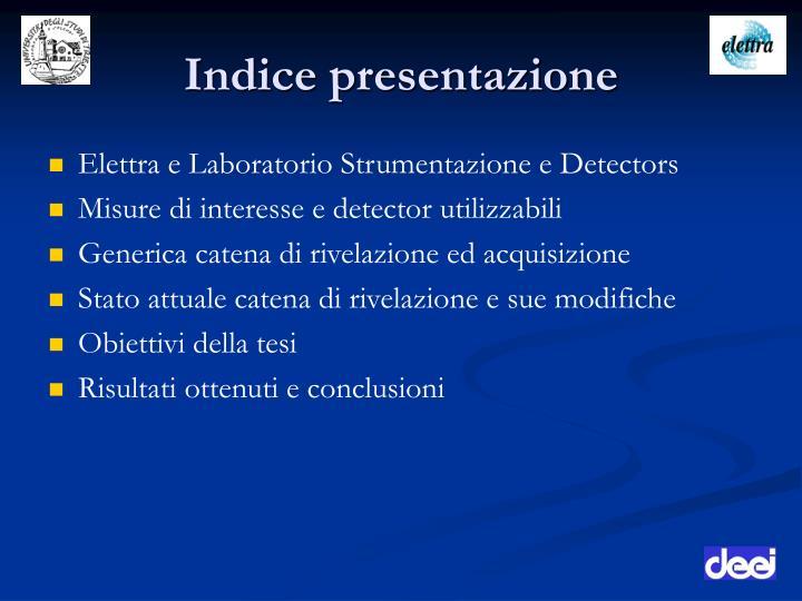 Indice presentazione