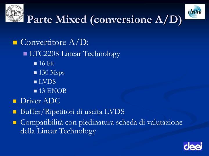 Parte Mixed (conversione A/D)