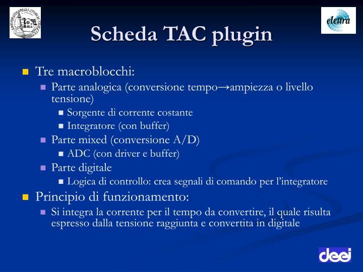 Scheda TAC plugin