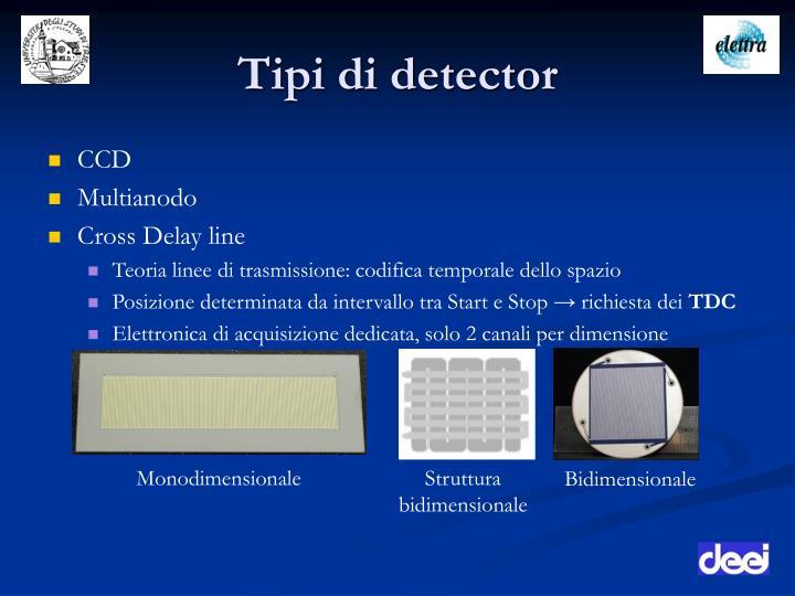 Tipi di detector
