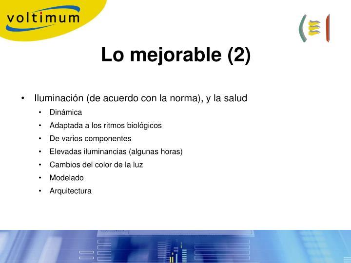 Lo mejorable (2)