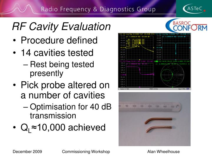 RF Cavity Evaluation