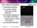 rf cavity evaluation