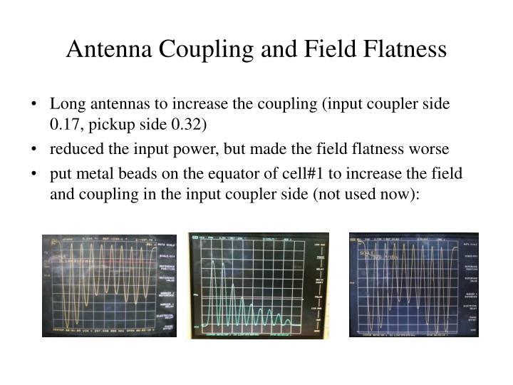 Antenna Coupling and Field Flatness