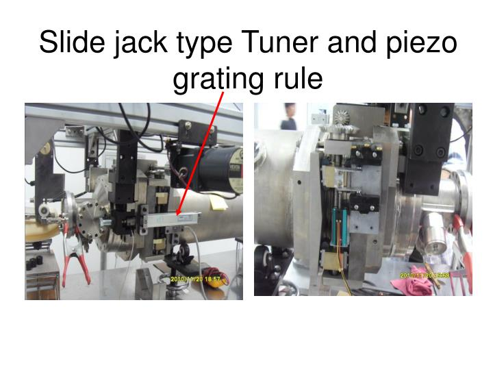Slide jack type Tuner and piezo
