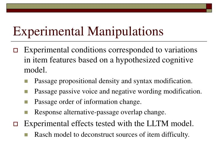 Experimental Manipulations
