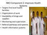 imci component 2 improves health systems