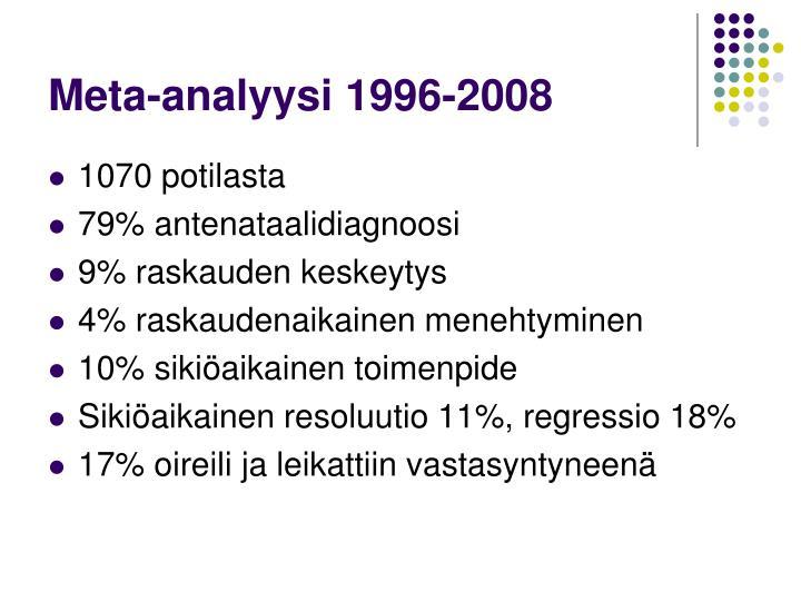 Meta-analyysi 1996-2008