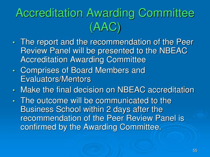 Accreditation Awarding Committee (AAC)