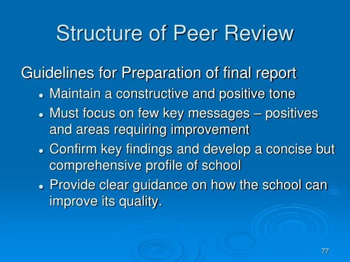 Structure of Peer Review