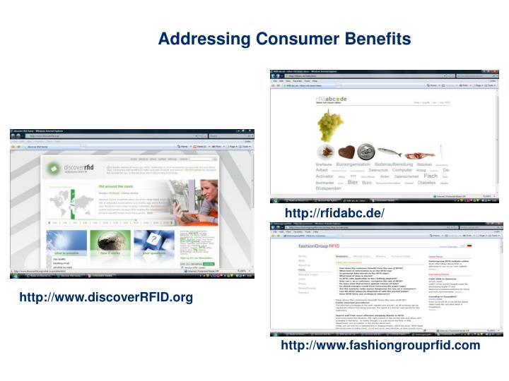 Addressing Consumer Benefits