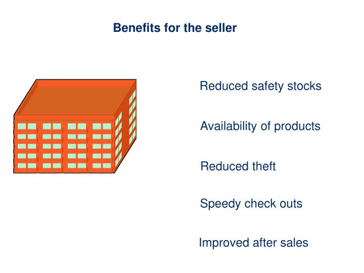 Benefits for the seller