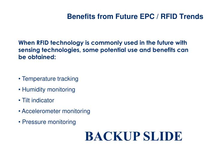 Benefits from Future EPC / RFID Trends