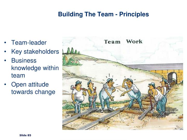 Building The Team - Principles