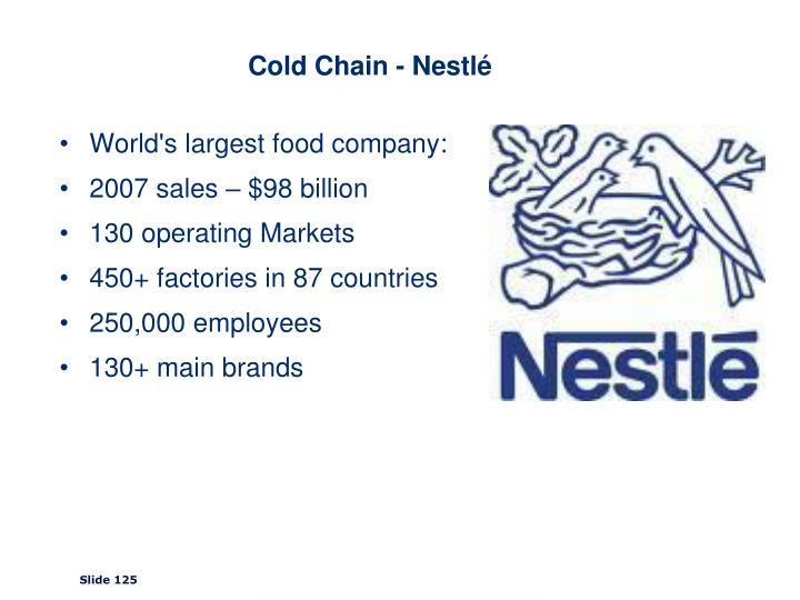 Cold Chain - Nestlé