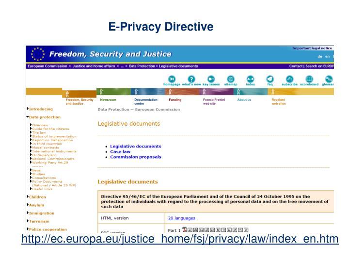 E-Privacy Directive