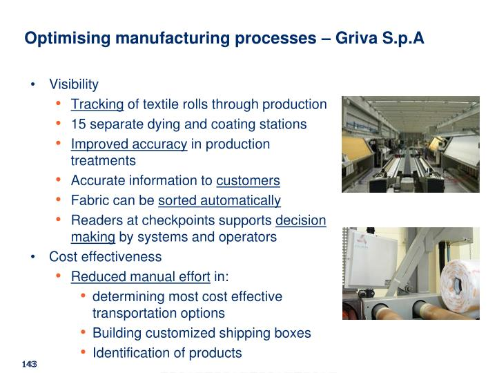 Optimising manufacturing processes – Griva S.p.A