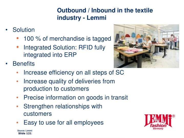 Outbound / Inbound in the textile industry - Lemmi