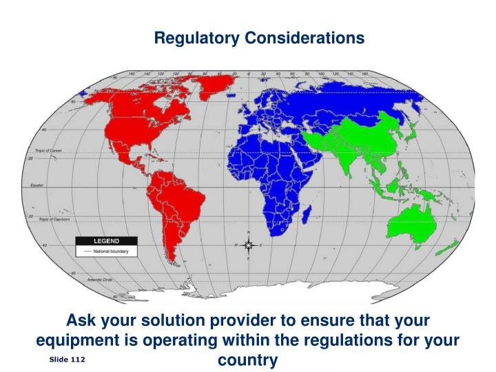 Regulatory Considerations