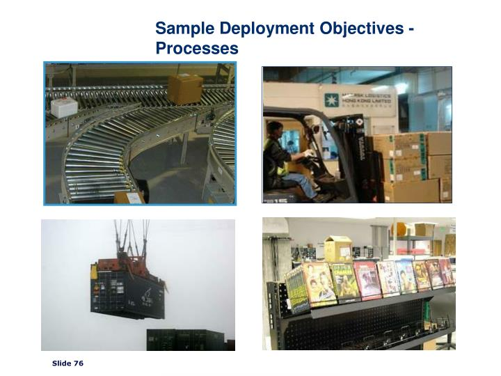 Sample Deployment Objectives - Processes