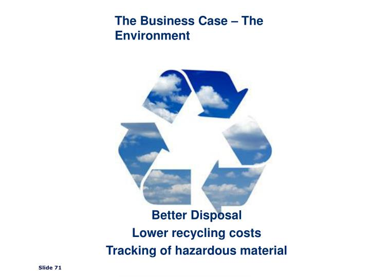 The Business Case – The Environment