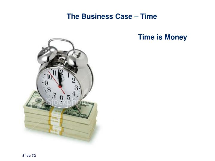 The Business Case – Time