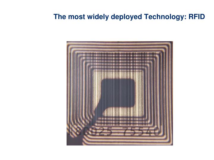 The most widely deployed Technology: RFID