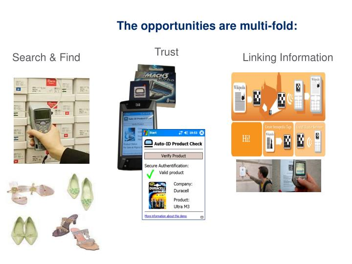 The opportunities are multi-fold: