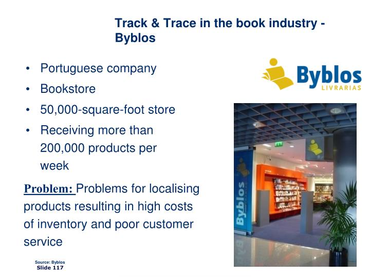 Track & Trace in the book industry - Byblos