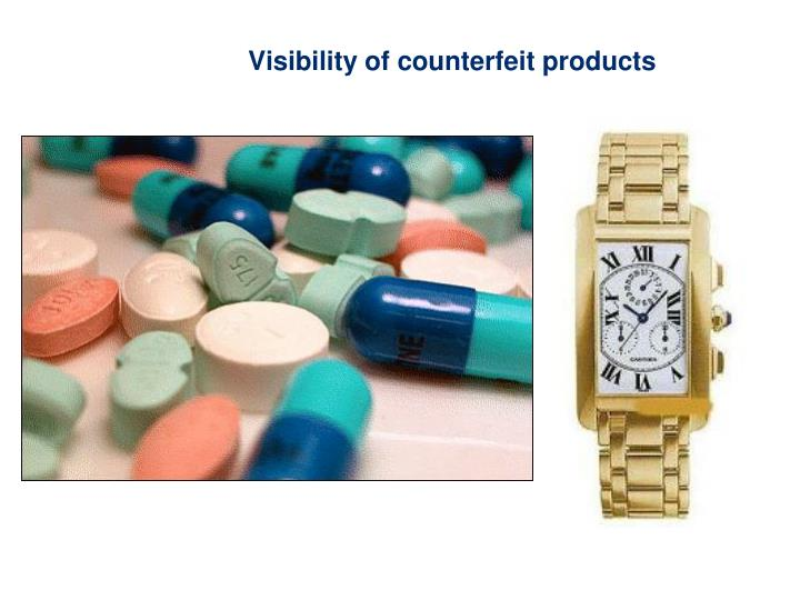 Visibility of counterfeit products
