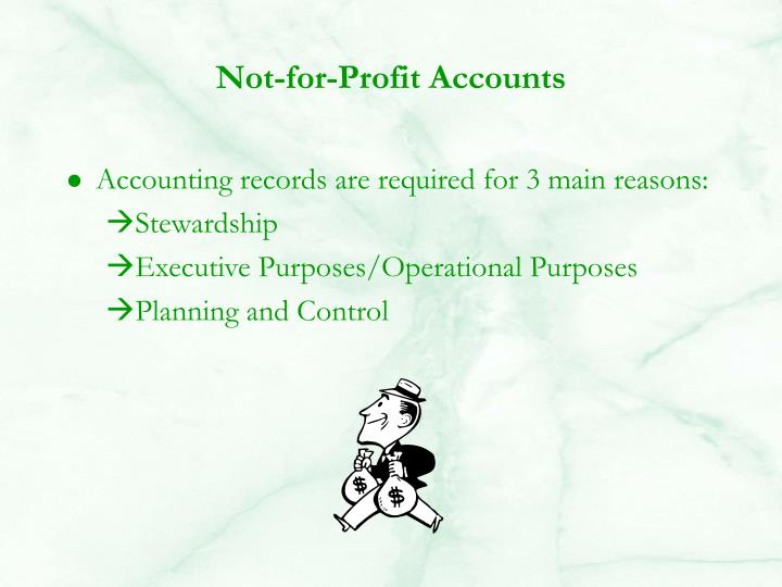 Not-for-Profit Accounts