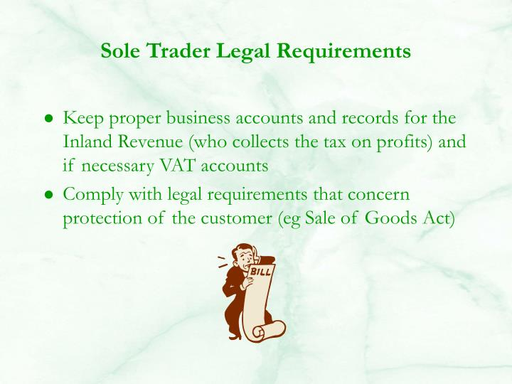 Sole Trader Legal Requirements
