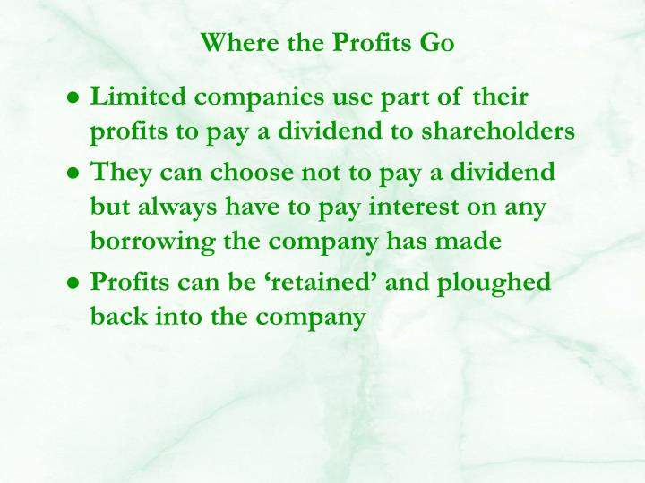 Where the Profits Go