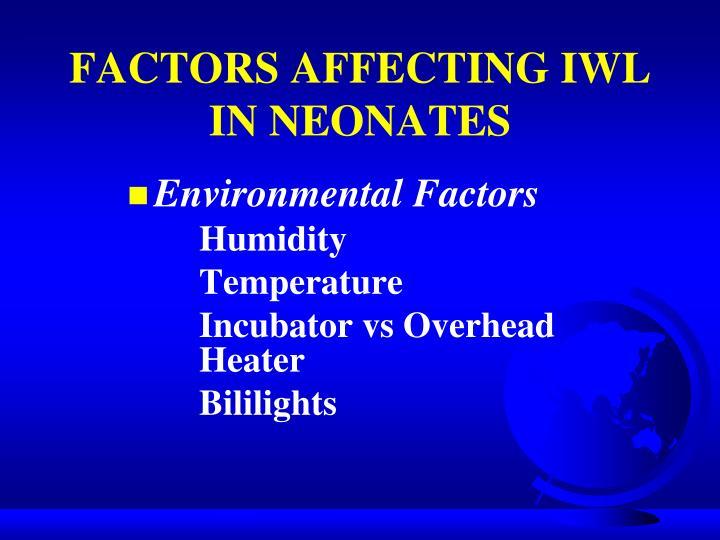 FACTORS AFFECTING IWL