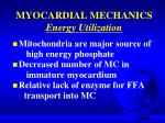 myocardial mechanics energy utilization